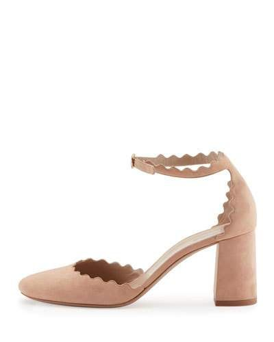 S0EFF Chloe Lauren Scalloped d'Orsay Pump