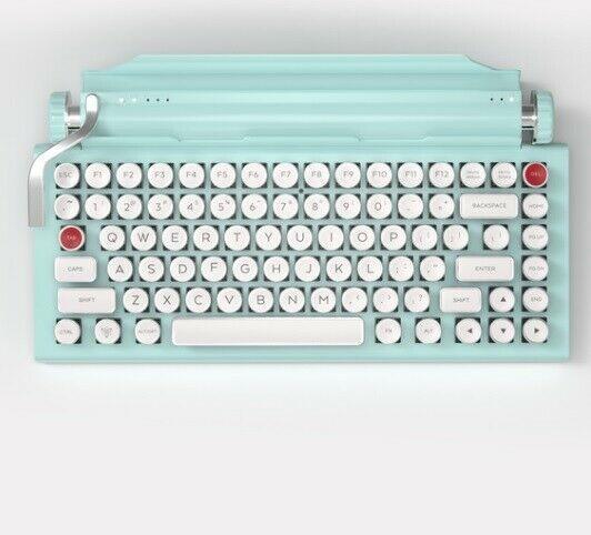 Vintage Keyboard Mechanical Typewriter Mint Green Retro Corded Wireless Gift Vintagekeyboardmechanicaltypewriter Computer Keyboard Custom Computer Typewriter