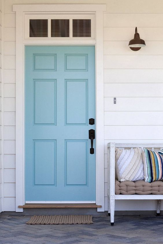 Paint Colors Blue Doors And Door Handles On Pinterest