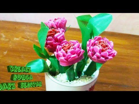 Kreasi Bunga Dari Sedotan Plastik Youtube