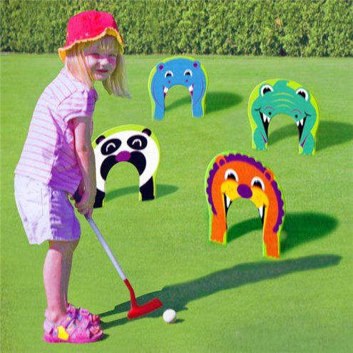 Animal Golf Outdoor Game Outdoor Games Golf Games For Kids Animal Games