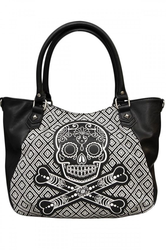 Loungefly Black/White Tweed Bag