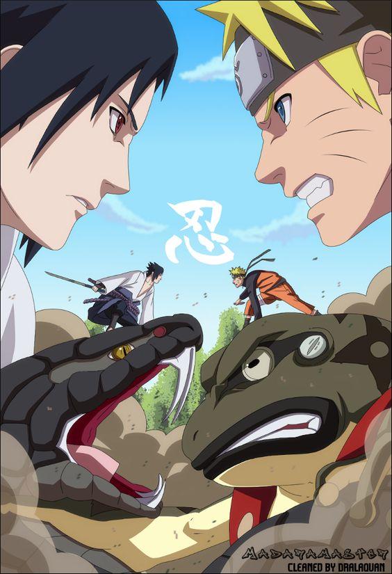 Naruto Uzumaki Vs Sasuke Uchiha Uchiha Sasuke VS Uzuma...