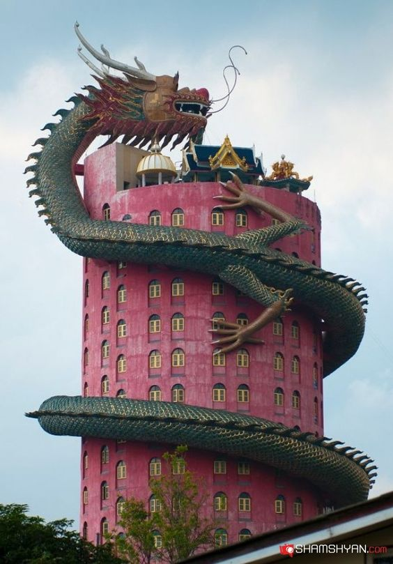 Wat Sampran, temple du dragon - Bangkok