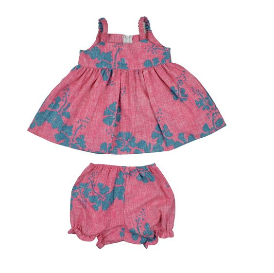 50th State Flower E-Bloomer and Toddler Dress (6M to 18M)