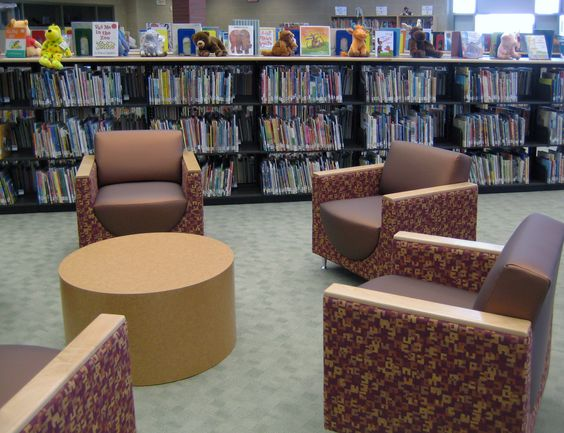 Kay-Twelve.com Another example for lounge seating in the library.