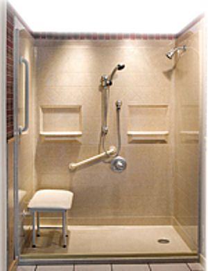 Mobile home handicap showers bathroom pinterest home faucets and mobiles for Showers for mobile homes bathrooms