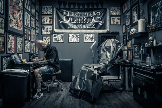 In the tattoo studio