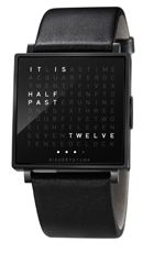QLOCKTWO by the German brand Biegert & Funk displays the time in written words by means of a matrix of letters. Very nice it is too!