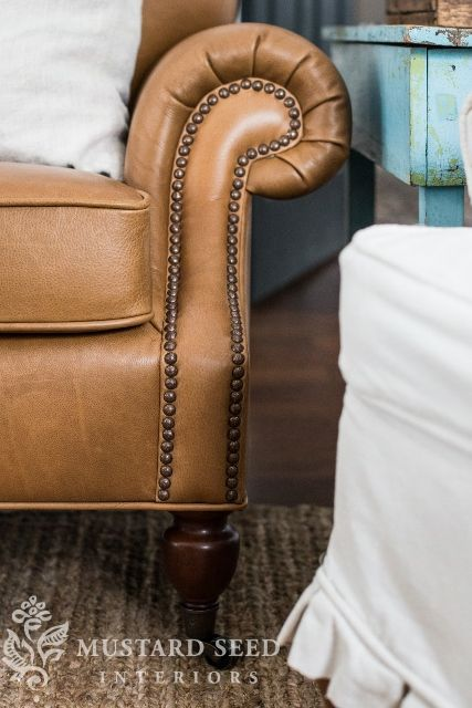Brooklyn leather sofa from @Pottery Barn