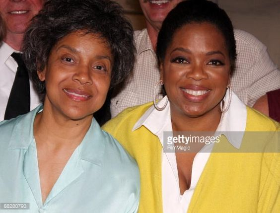 Actress Phylicia Rashad dressed as her character 'Violet Weston' and talk show host Oprah Winfrey pose backstage at the Pulitzer Prizewinning play 'August Osage County' at the Music Box Theatre on... Get premium, high resolution news photos at Getty Images