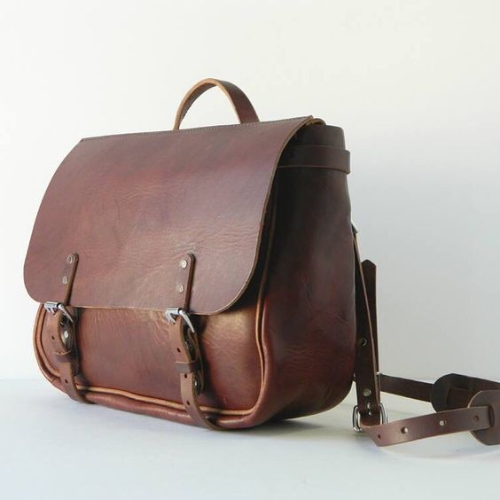 6/7oz Leather Messenger, Mailbag, Satchel, Briefcase - By Gillie Leather