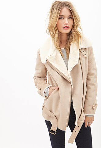 Opening Ceremony - Long Sleeve Faux Shearling Jacket | outerwear ...