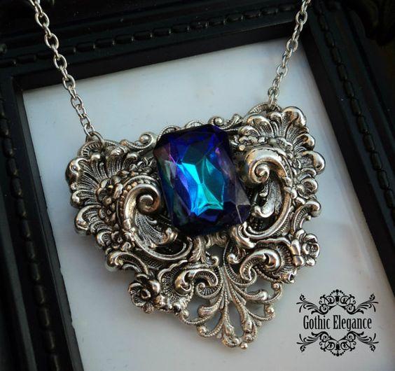 Option Black/Turquoise/Blue-Purple/Green/White por GothicElegance