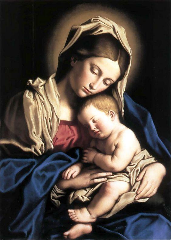 Orazio Lomi Gentileschi (1563-1639) — Madonna and Child (855x1200):