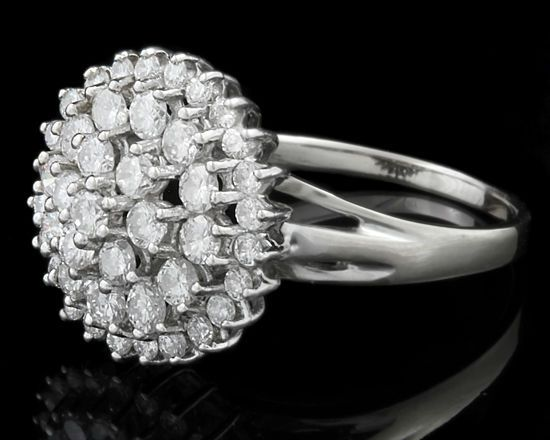 Corrs Jewellers Dublin. Cluster Engagement Ring (Ref 4839)