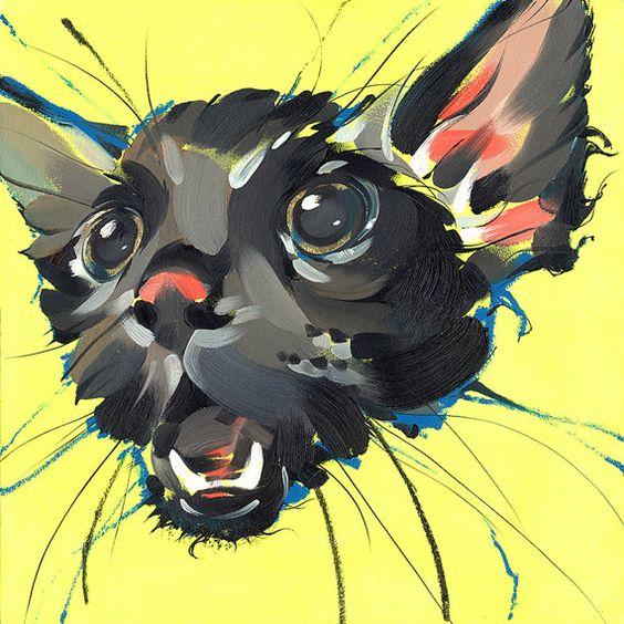 "Wet Pussy - Fine Art Print by Jonny Ruzzo - 13"" x 13"""