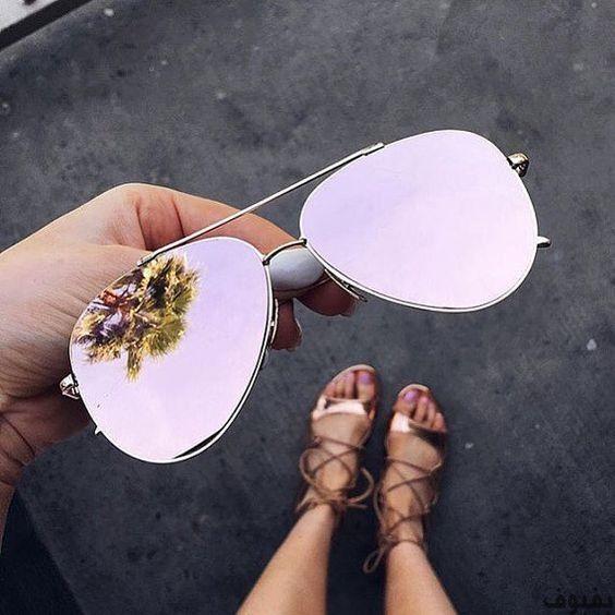 نظارات شمس حريمى 30 نظارة شمسية للنساء موضة 2020 بفبوف Sunglasses Mirrored Sunglasses Cute Sunglasses