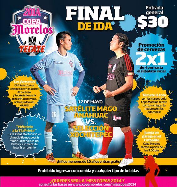 Copa Morelos Tecate 2014 – Final de ida 17 de mayo – Satélite Mago Anáhuac VS. Selección Xochitepec