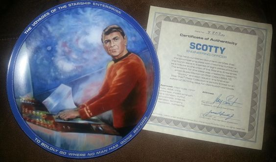 Star Trek Collector Plate - Scotty on Etsy