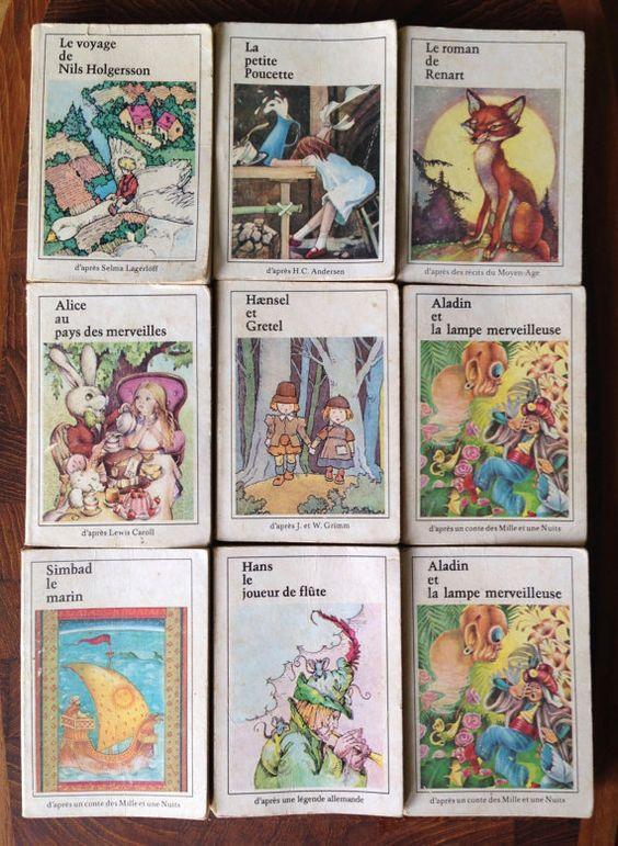 9 Miniature French Children S Books Editions Riquier 1970s Etsy Childrens Books Sinbad The Sailor Alice In Wonderland
