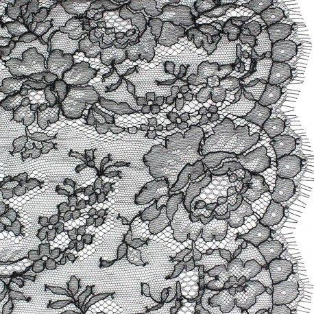 Tissu Dentelle de Calais® Noir x 10cm
