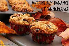 Cinq Fourchettes etc.: Muffins aux bananes et aux canneberges sans oeuf