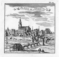 1730 - Tübingen Gesamtansicht Original Kupferstich