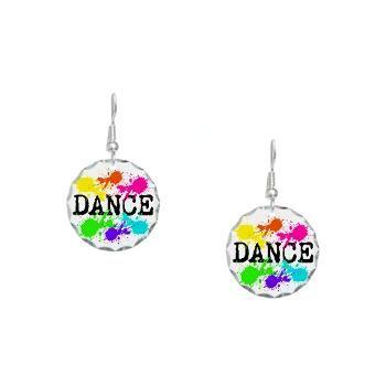Dance Paint Earring Circle Charm: http://www.cafepress.com/dancerspace.558879856