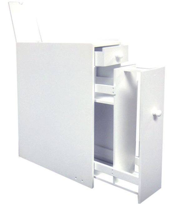 Slim chance you 39 ll run out of space for toilet paper with for Slim mirrored bathroom cabinet