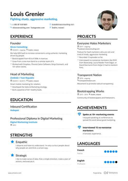 Free Resume Templates For 2020 Pdf Txt Download By Enhancv Com In 2021 Resume Templates Resume Template Free Resume