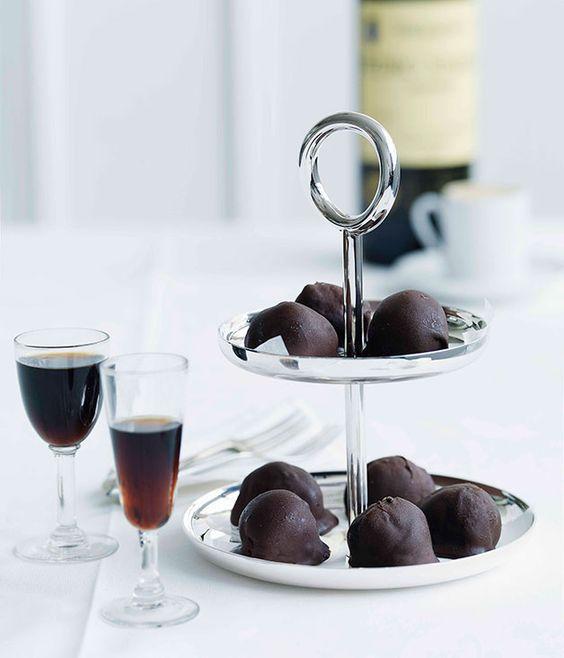 Dark chocolate-dipped espresso ice-cream balls - Gourmet Traveller