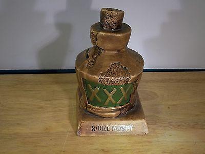 Vintage 1960s BOOZE MONEY BANK By Paula - Whimsical Mock Old Brown Jug Ceramic