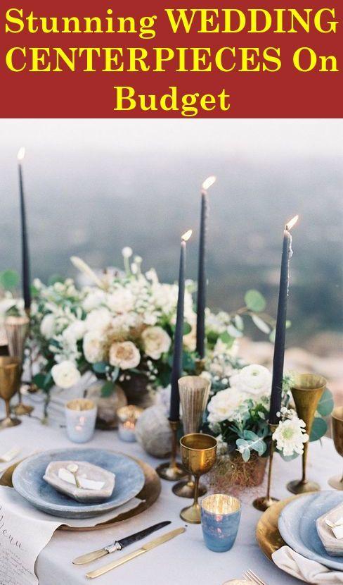 Easy To Make Cheap Wedding Centerpieces For Every Season Wedding Photography Romantic Wedding Decor Wedding Tablescapes Floral Candle Centerpieces