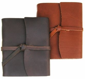Handcrafted Rustic Wrap Leather Journal- Jenni Bick Bookbinding