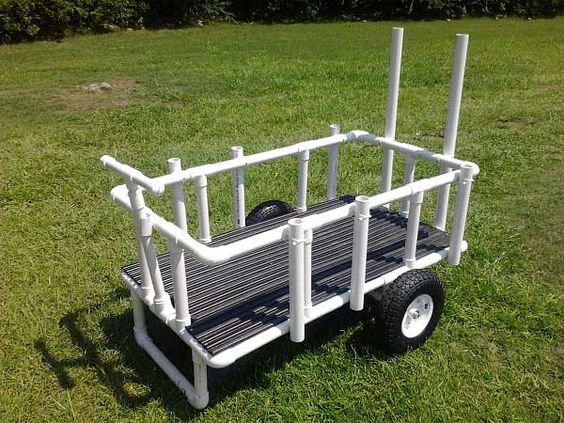 homemade fishing cart design | this pvc homemade fishing cart is a, Reel Combo