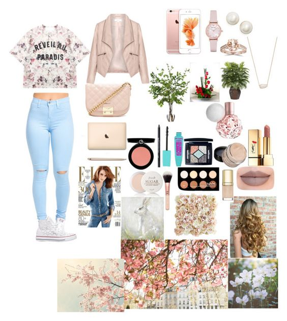 """""""Spring time⛅"""" by fashion-dora15 ❤ liked on Polyvore featuring Momewear, Converse, Forever 21, Christian Dior, Urban Decay, NYX, Yves Saint Laurent, Jeffree Star, Armani Beauty and Emporio Armani"""
