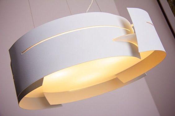 Design Hängeleuchte weiß Pendelleuchte Hängelampe Leuchte Glas Pendellampe Lampe…