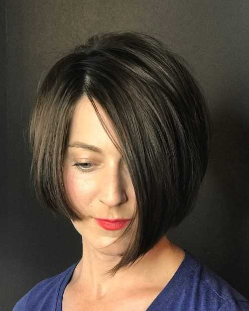 19 Hottest Asymmetrical Bob Haircuts You Ll See Right Now Asymmetrical Bob Haircuts Messy Bob Hairstyles Bob Hairstyles