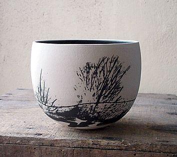 "Christina Guwang ""bol paysage noir et blanc"""