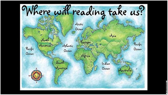 Where will reading take us? poster....love it--cross curricular
