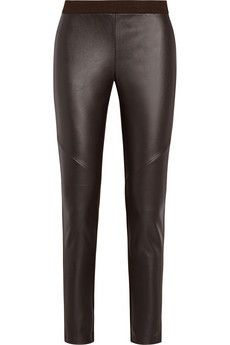 MICHAEL Michael Kors Stretch faux leather and jersey leggings | THE OUTNET