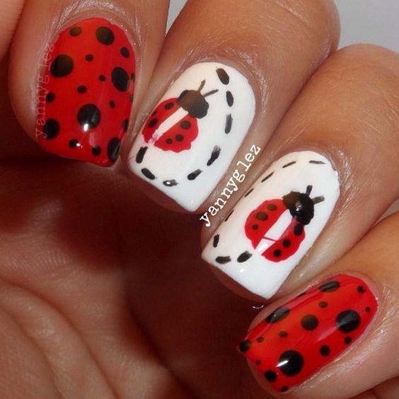 Ladybugs, Ladybug Nails And Ladybug Nail Art On Pinterest