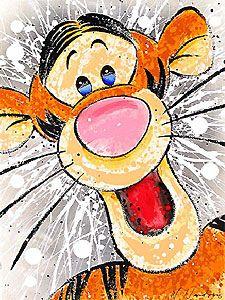 Winnie the Pooh - In Your Face - Tigger - David Willardson - World-Wide-Art.com: