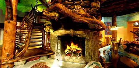 The interior design of this Hobbit house lookalike is based on the