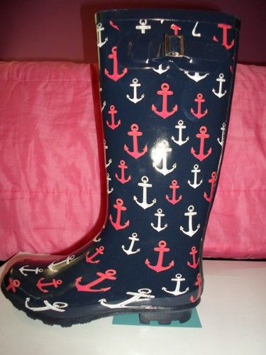 Call It Spring Women's Nautical Anchor Rain Boots Size 9 $39 ...