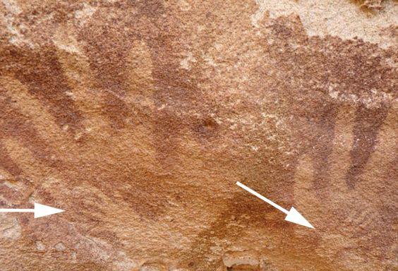 Mini-Handabdrücke in Sahara-Höhle stammen nicht von Menschen . . . http://www.grenzwissenschaft-aktuell.de/handabdruecke-nicht-von-menschen20160302 . . . Abb.: Emmanuelle Honoré