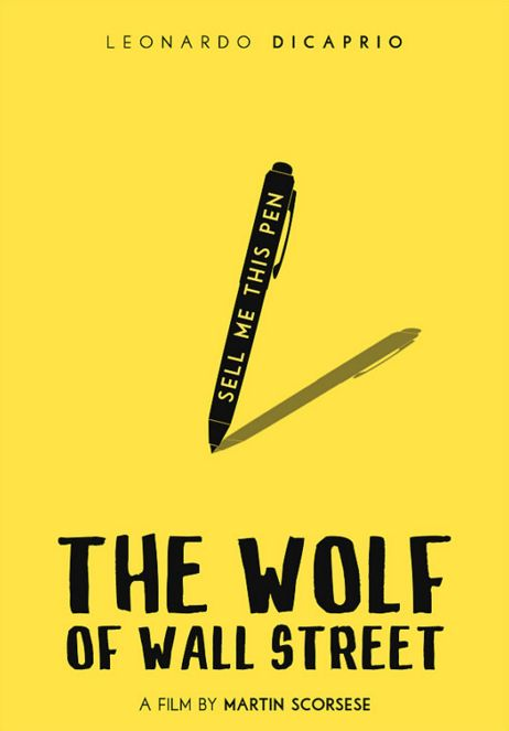 The Wolf of Wall Street (2014) ~ Minimal Movie Poster by Polar Designs #amusementphile