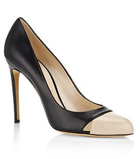 Contrast Leather Pump - Casadei