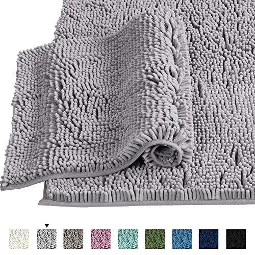 Bath Rugs For Bathroom Slip Resistant Shag Chenille Bath Rugs Mat